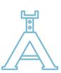 Pallbockar, aggregatlyftar och övrig utrustning